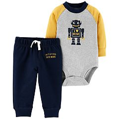 Baby Boy Carter's 'I Love Mom' Robot Bodysuit & Pants Set