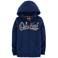 Girls 4-12 OshKosh B'gosh® Sequined Logo Hoodie