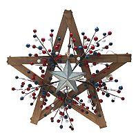 Celebrate Americana Together Pre-Lit Wood Star Wall Decor