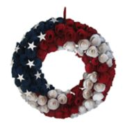 Celebrate Americana Together Patriotic Wood Curl Wreath