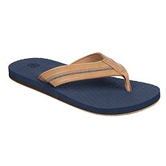 Wembley Piped Denim Men's Thong Flip Flops