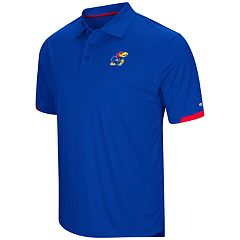 Men's Colosseum Kansas Jayhawks Loft Polo