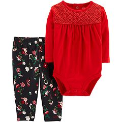 Baby Girl Carter's Bodysuit & Floral Pants Set