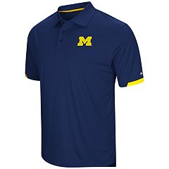 Men's Colosseum Michigan Wolverines Loft Polo