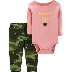Baby Girl Carter's 'Daddy's Little Girl' Bodysuit & Camo Leggings Set