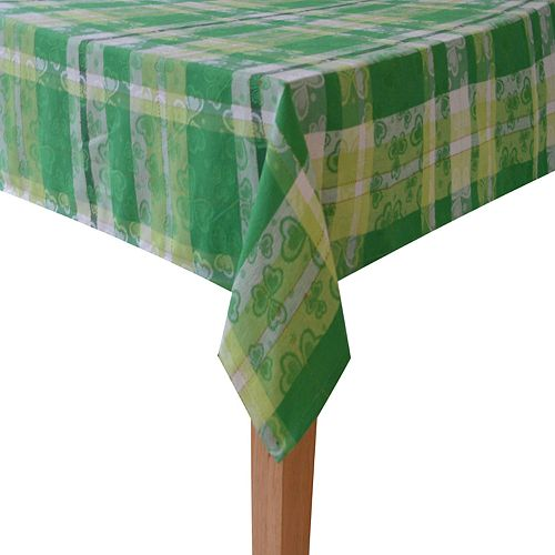 06a2c5be33b8 Celebrate St. Patrick's Day Together Shamrock Tablecloth