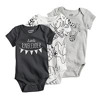 Baby Jumping Beans® 3-pk. Print & Graphic Bodysuits