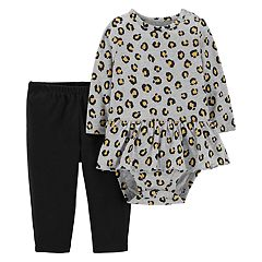 Baby Girl Carter's Animal Print Peplum Bodysuit & Pants Set