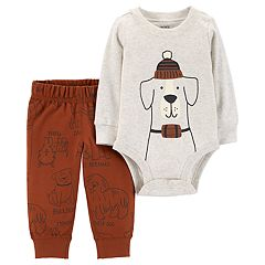 Baby Boy Carter's Dog Breeds Bodysuit & Pants Set