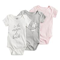 Baby Girl Jumping Beans® 3 pkPrint Bodysuits