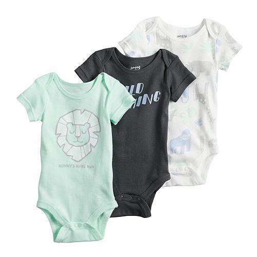 Baby Boy Jumping Beans® 3-pk. Print Bodysuits
