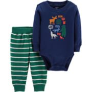 Baby Boy Carter's Woodland Animals Bodysuit & Pants Set