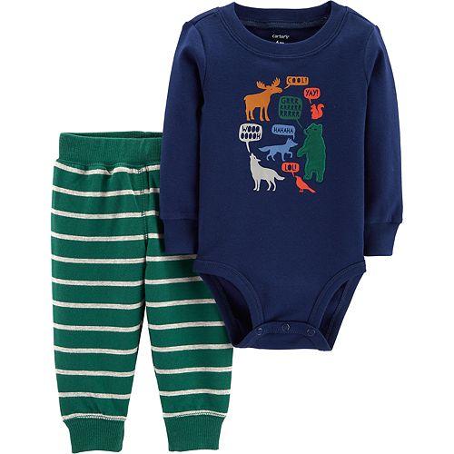 Baby Boy Carter's Woodland Animals Bodysuit & Pants Set