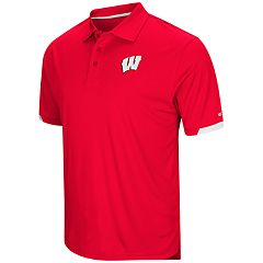 Men's Colosseum Wisconsin Badgers Loft Polo