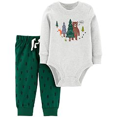 Baby Boy Carter's Bear Forest Bodysuit & French Terry Tree Pants Set