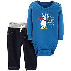 Baby Boy Carter's 'Super Cute Is My Style'  Bodysuit & Pants Set