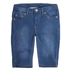 3c505072dbb4 Girls 7-16 Levi s Bermuda Shorts. Medium Indigo Light ...
