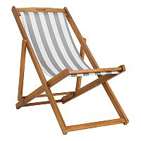 Safavieh Striped Indoor / Outdoor Folding Sling Chair