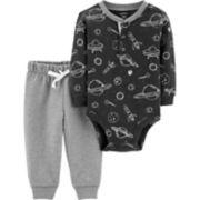 Baby Boy Carter's Spaceship Bodysuit & Jogger Pants Set