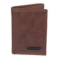 Men's Columbia RFID-Blocking Extra Capacity Leather Trifold Wallet