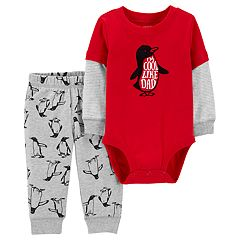 Baby Boy Carter's 'I'm Cool Like Dad' Bodysuit & Penguin Pants Set
