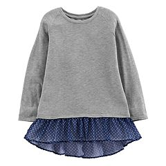 Girls 4-12 OshKosh B'gosh® Chiffon-Hem Sweatshirt