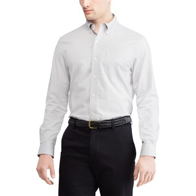 Big & Tall Chaps Regular-Fit Easy-Care Stretch Button-Down Shirt