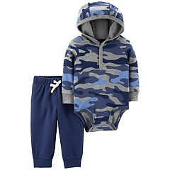 Baby Girl Carter's Camouflage Hooded Bodysuit & Pants Set