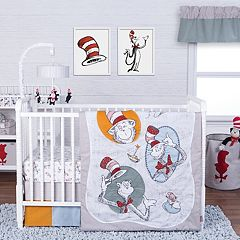 Trend Lab Dr. Seuss 3 pc Classic Cat In the Hat Crib Bedding Set