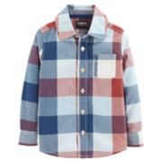 Toddler Boy OshKosh B'gosh® Checked Plaid Button Down Shirt