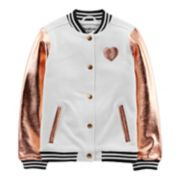 Girls 4-12 OshKosh B'gosh® Metallic Heart Bomber Jacket
