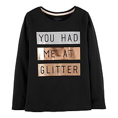 Girls 4-12 OshKosh B'gosh® 'You Had Me At Glitter' Embellished Graphic Tee