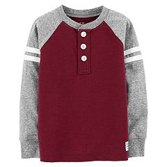 Toddler Boy OshKosh B'gosh® Slubbed Raglan Henley Top