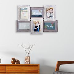 Melannco Distressed 6-Opening 4' x 6' Collage Frame