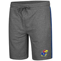 Men's Colosseum Kansas Jayhawks Sledge II Terry Shorts