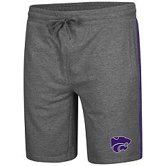 Men's Colosseum Kansas State Wildcats Sledge II Terry Shorts