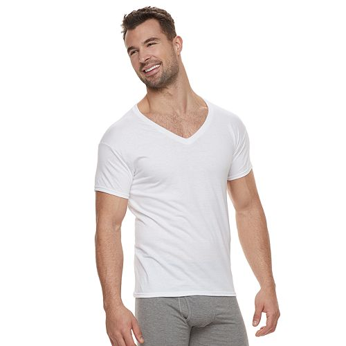 61da452ef Men s Hanes Ultimate 4-pack ComfortFlex V-Neck Tees