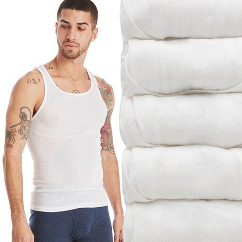 Men's Hanes Ultimate 5-pack ComfortBlend A-Shirts