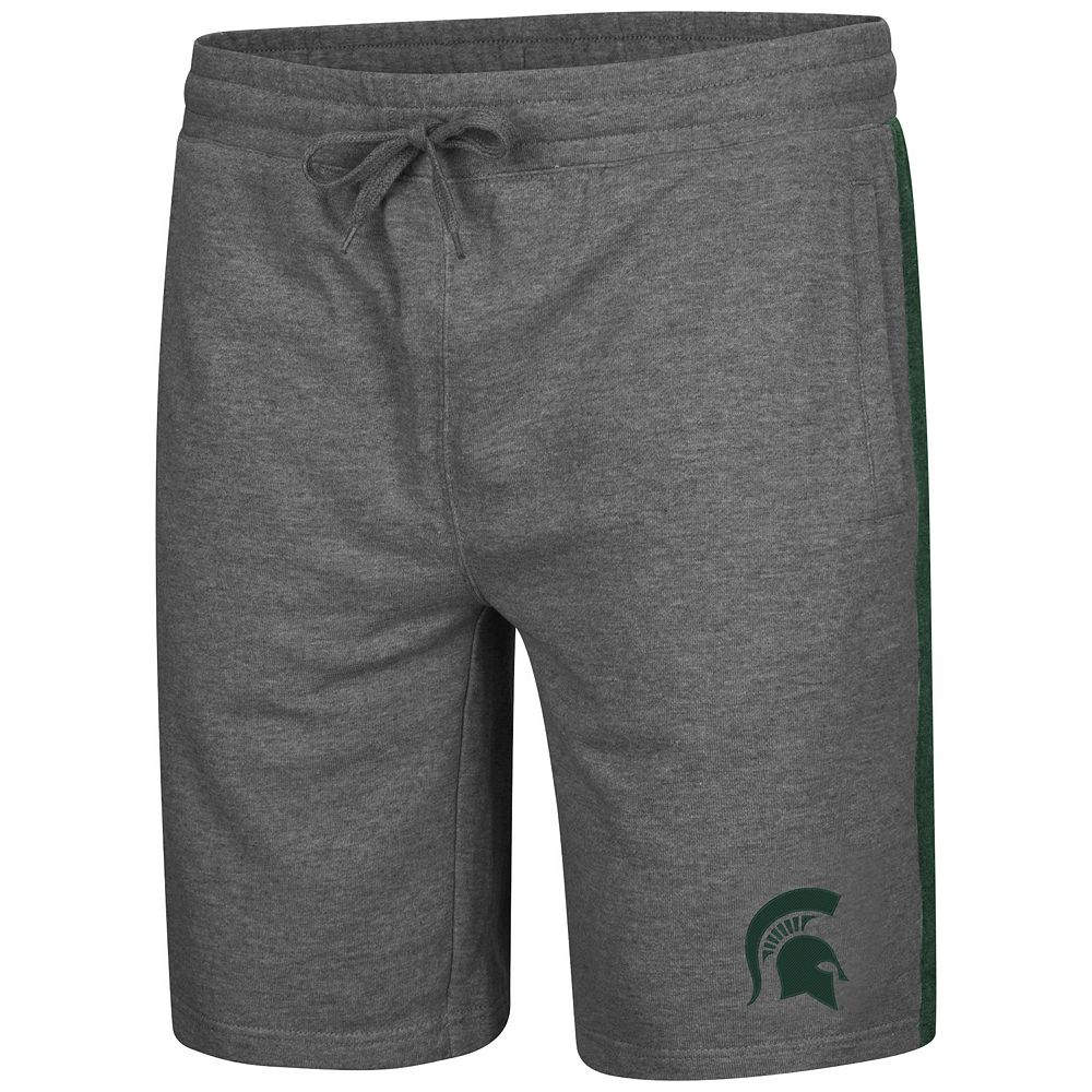 Men's Colosseum Michigan State Spartans Sledge II Terry Shorts