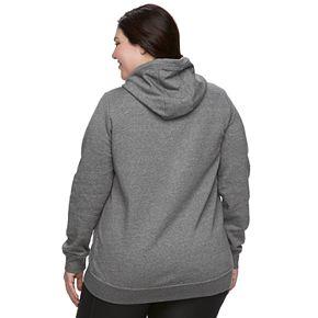 Plus Size Nike Funnel Neck Fleece Jacket