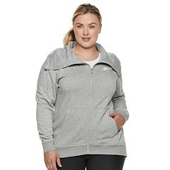 Plus Size Nike Funnel Neck Fleece Jacket