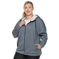 Plus Size Nike Hooded Zip Front Jacket
