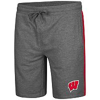 Men's Colosseum Wisconsin Badgers Sledge II Terry Shorts
