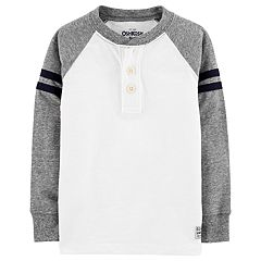 Toddler Boy OshKosh B'gosh® Striped Raglan Henley Top
