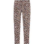 Girls 4-12 OshKosh B'gosh® Glittery Leopard Fleece Leggings