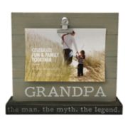 "Celebrate Fun & Family Together ""Grandpa"" 4"" x 6"" Photo Clip Frame"