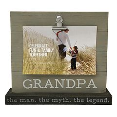 Celebrate Fun & Family Together 'Grandpa' 4' x 6' Photo Clip Frame