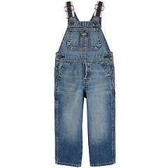 Toddler Boy OshKosh B'gosh® Striped Straps Denim Overalls