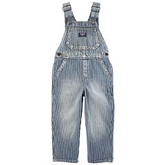 Toddler Boy OshKosh B'gosh® Striped Engine Denim Overalls