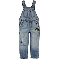 Toddler Boy OshKosh B'gosh® Rip & Repair Patched Denim Overalls